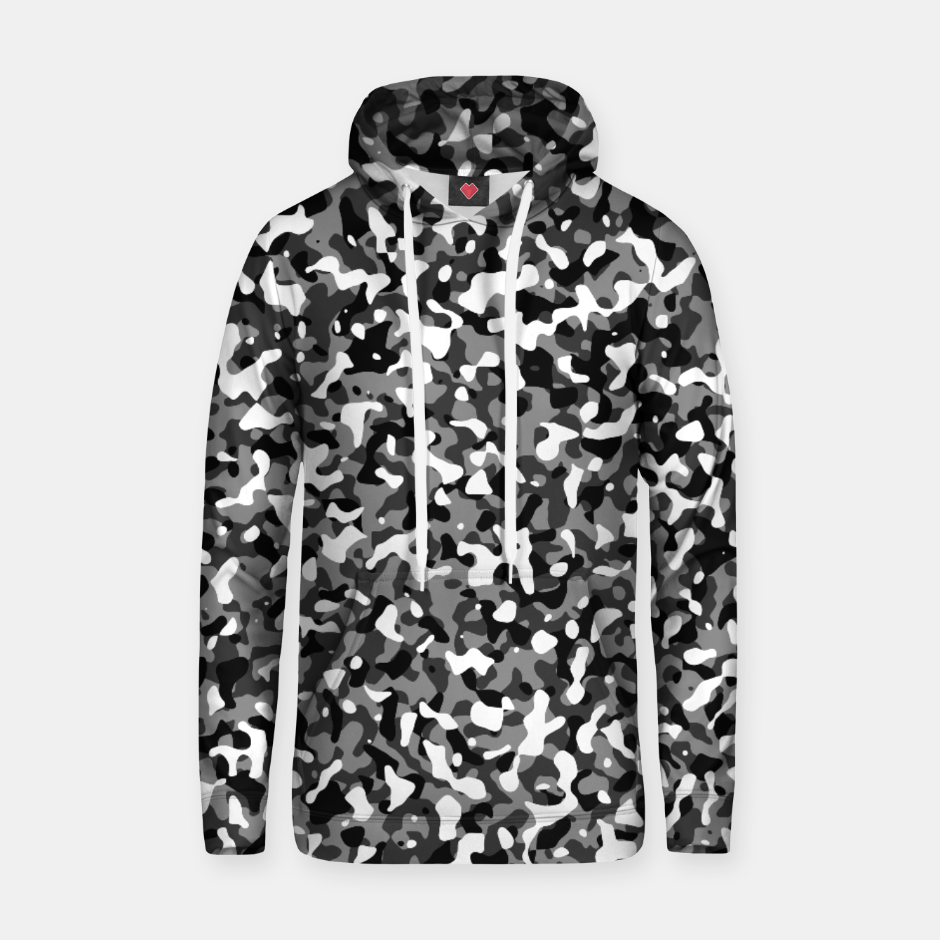 Foto Snow Pattern Camouflage Style Kapuzenpullover - Live Heroes