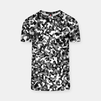 Miniatur Snow Pattern Camouflage Style T-Shirt, Live Heroes