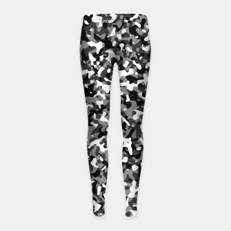 Miniatur Snow Pattern Camouflage Style Kinder-Leggins, Live Heroes
