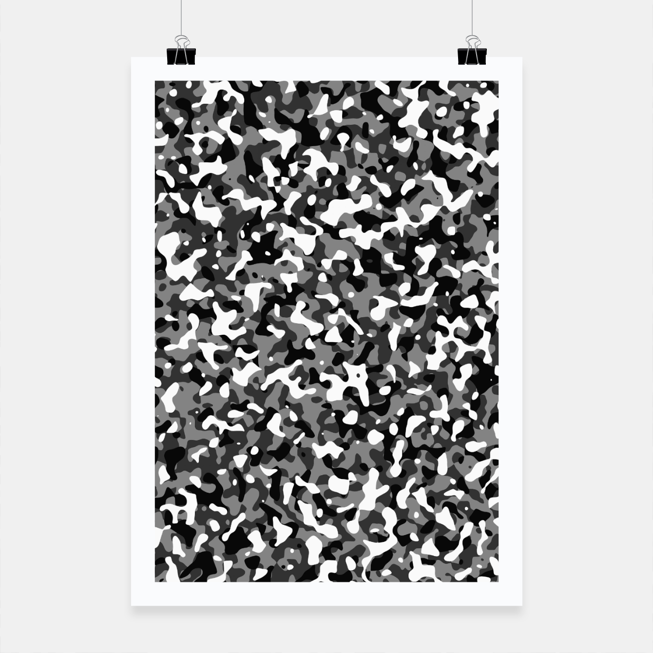 Image of Snow Pattern Camouflage Style Plakat - Live Heroes