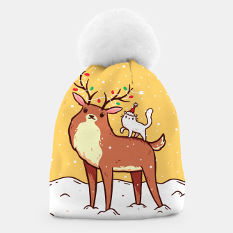 Thumbnail image of Reindeer and Kitten Beanie, Live Heroes