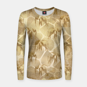 Thumbnail image of Abstract Safari Women sweater, Live Heroes