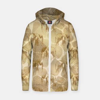 Thumbnail image of Abstract Safari Zip up hoodie, Live Heroes