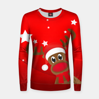 Thumbnail image of Rudy the Christmas Reindeer Women sweater, Live Heroes