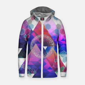 Triangle Planet  Zip up hoodie Bild der Miniatur