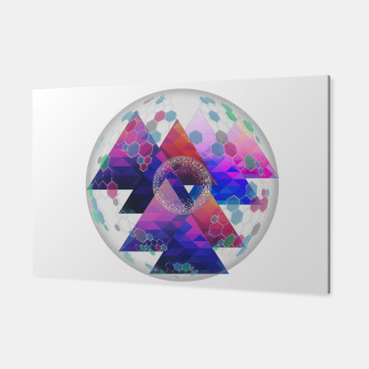 Triangle Planet  Canvas Bild der Miniatur