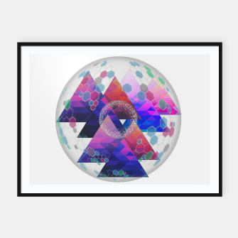 Triangle Planet  Framed poster Bild der Miniatur