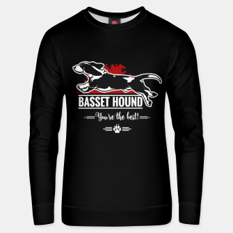 Thumbnail image of BASSET HOUND - the Special One Unisex sweater, Live Heroes
