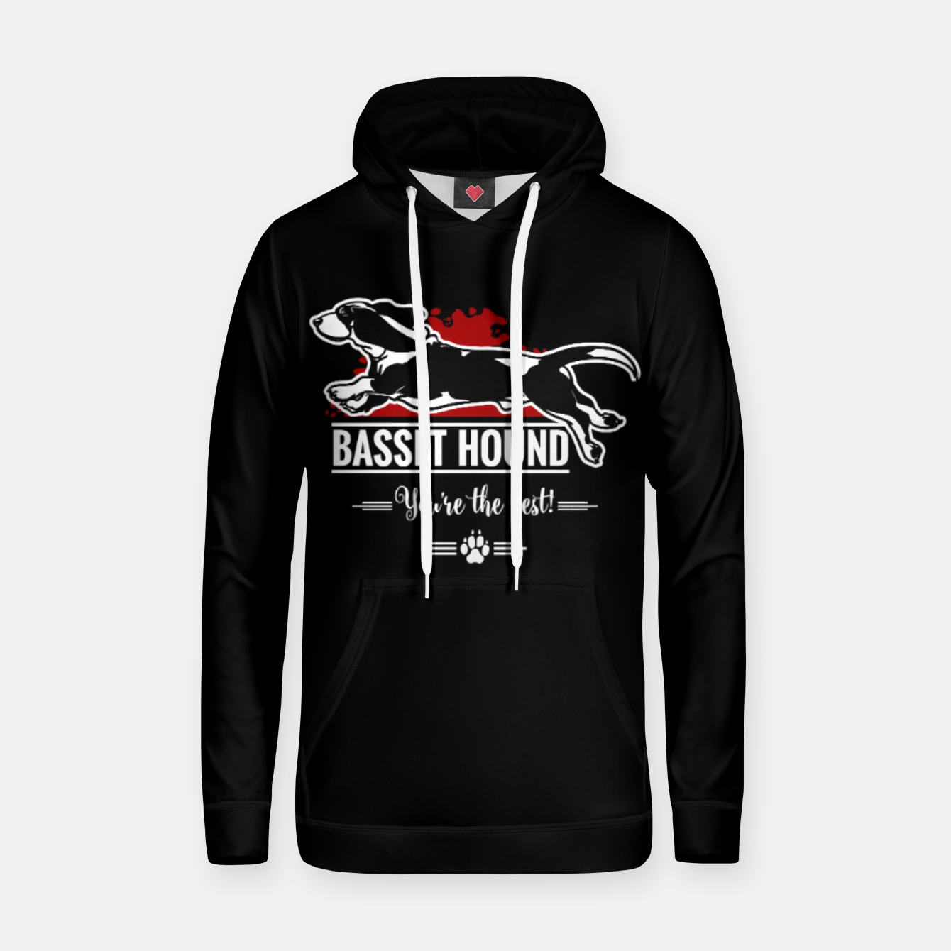 Image of BASSET HOUND - the Special One Hoodie - Live Heroes