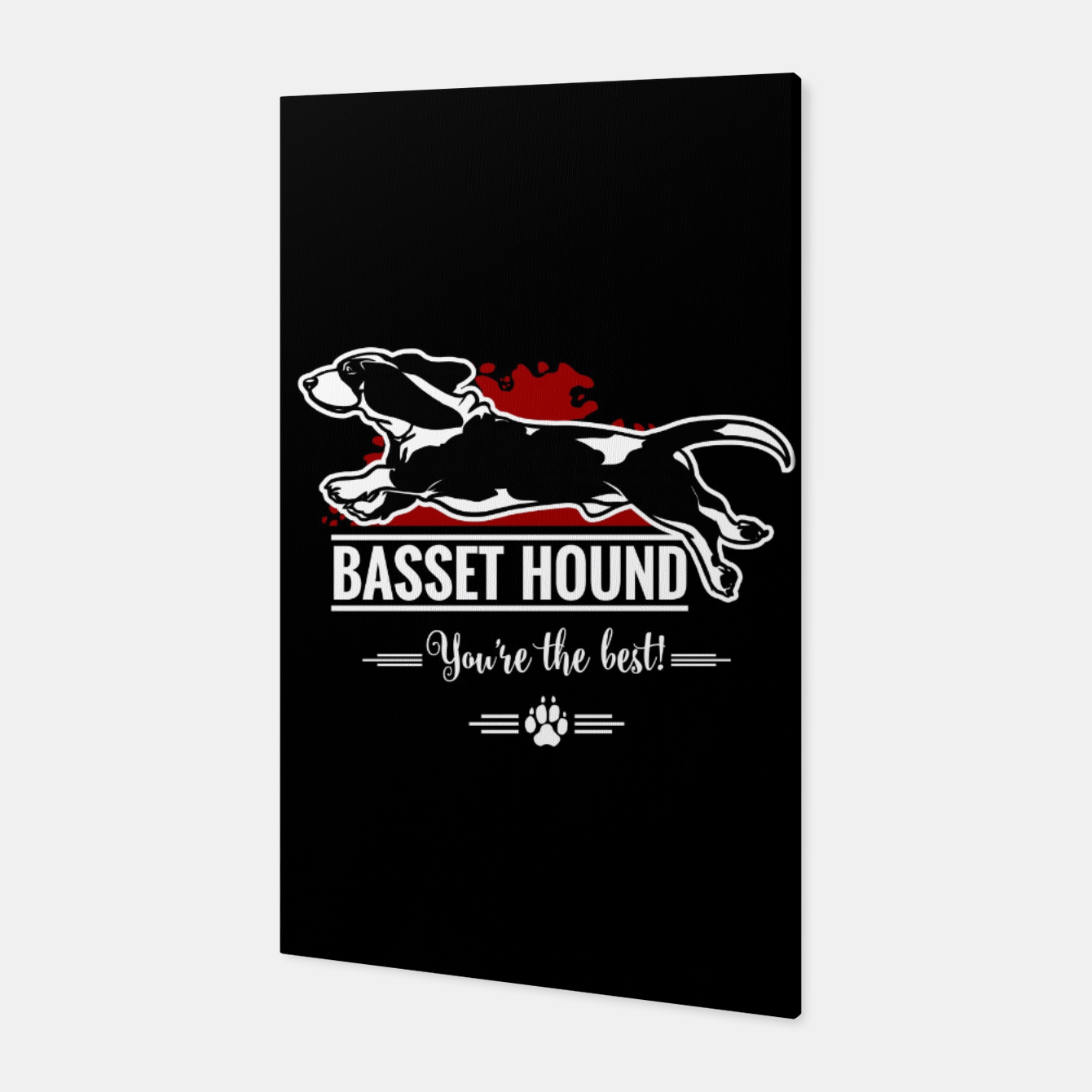 Image of BASSET HOUND - the Special One Canvas - Live Heroes