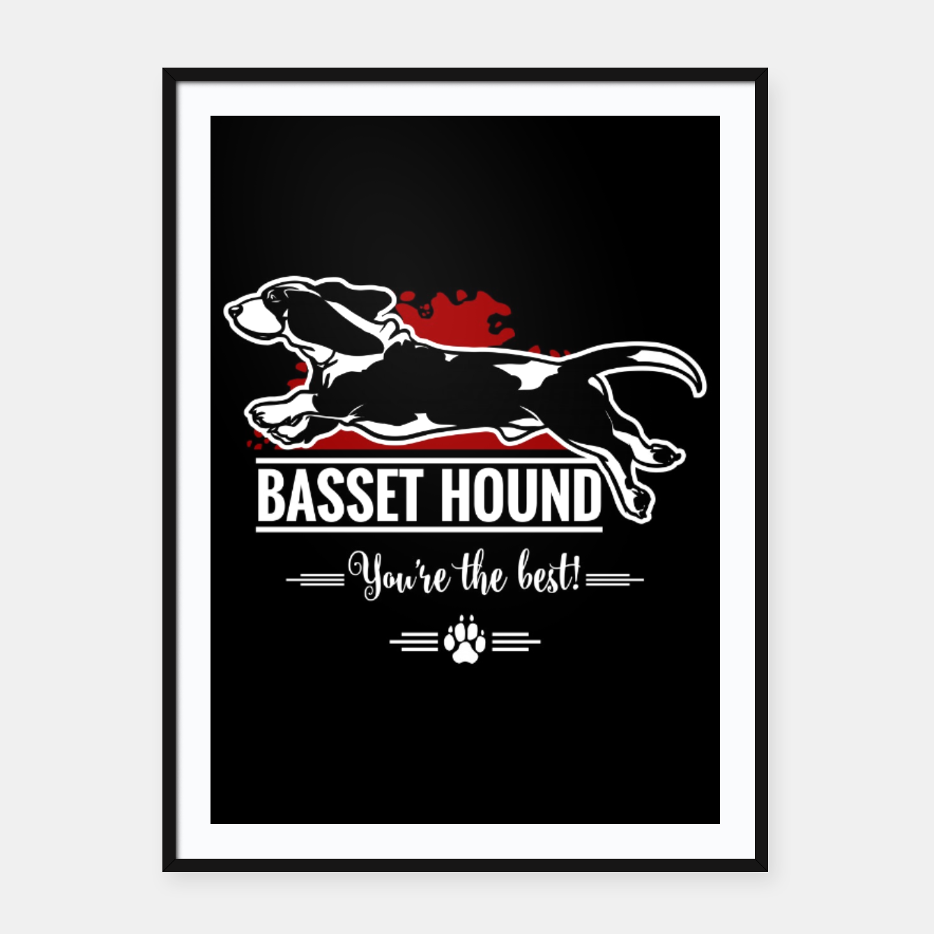 Image of BASSET HOUND - the Special One Framed poster - Live Heroes