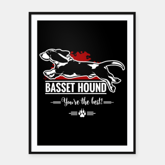 Thumbnail image of BASSET HOUND - the Special One Framed poster, Live Heroes