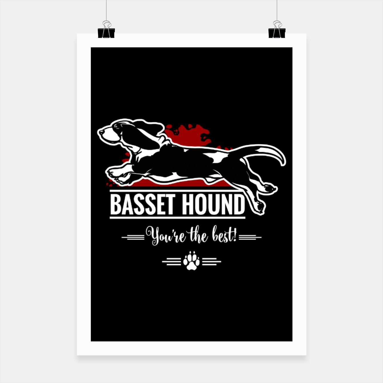 Image of BASSET HOUND - the Special One Poster - Live Heroes