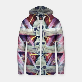 Thumbnail image of Back pains Zip up hoodie, Live Heroes