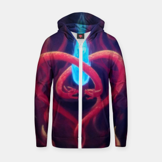 Thumbnail image of Love vs Infatuation Zip up hoodie, Live Heroes