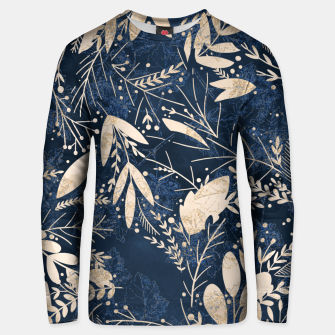 Thumbnail image of Gold Blue Jungle Unisex sweater, Live Heroes