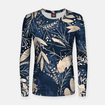 Thumbnail image of Gold Blue Jungle Women sweater, Live Heroes