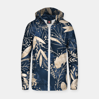 Thumbnail image of Gold Blue Jungle Zip up hoodie, Live Heroes