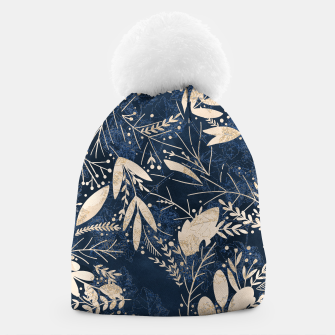 Thumbnail image of Gold Blue Jungle Beanie, Live Heroes