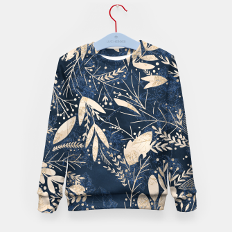 Thumbnail image of Gold Blue Jungle Kid's sweater, Live Heroes