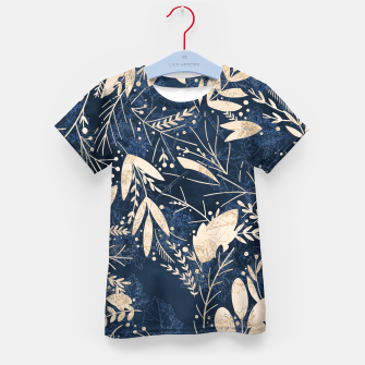 Thumbnail image of Gold Blue Jungle Kid's t-shirt, Live Heroes