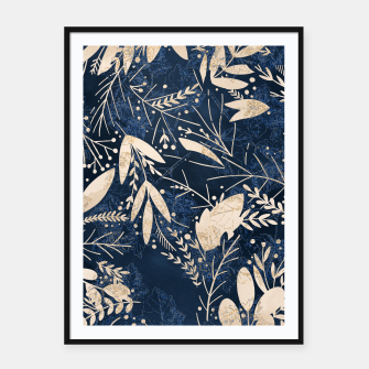 Thumbnail image of Gold Blue Jungle Framed poster, Live Heroes