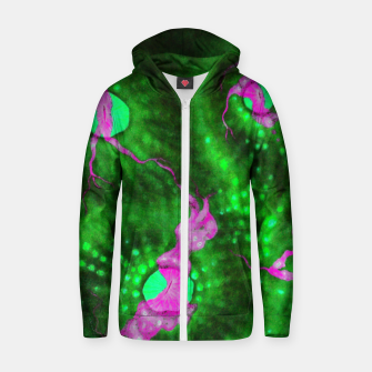 Purple striped green chalice Zip up hoodie thumbnail image