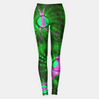Thumbnail image of Purple striped green chalice Leggings, Live Heroes