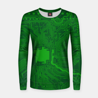 Miniatur Computer Age (Circuit Board) 2 Women sweater, Live Heroes
