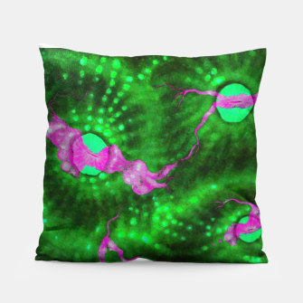 Purple striped green chalice Pillow thumbnail image
