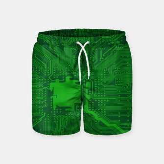 Miniatur Computer Age (Circuit Board) 2 Swim Shorts, Live Heroes
