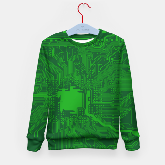 Miniatur Computer Age (Circuit Board) 2 Kid's sweater, Live Heroes
