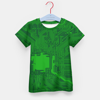 Miniatur Computer Age (Circuit Board) 2 Kid's t-shirt, Live Heroes