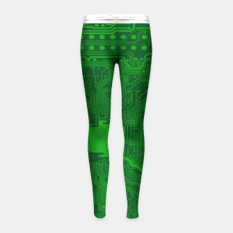 Thumbnail image of Computer Age (Circuit Board) 2 Girl's leggings, Live Heroes