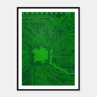 Miniatur Computer Age (Circuit Board) 2 Framed poster, Live Heroes