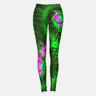 Purple striped green chalice Leggings thumbnail image