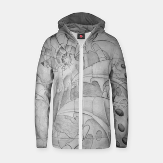 Thumbnail image of Biomech tunnel Zip up hoodie, Live Heroes