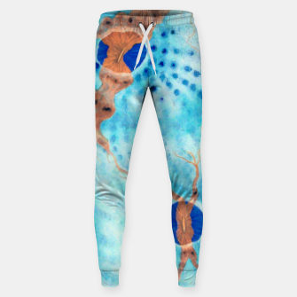 Orange striped Ice blue chalice Sweatpants thumbnail image