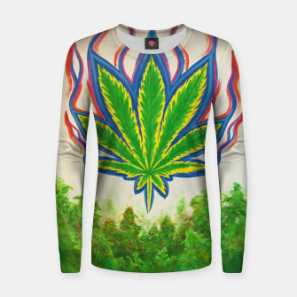 Thumbnail image of Ganja Fields Women sweater, Live Heroes