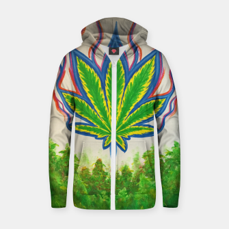 Thumbnail image of Ganja Fields Zip up hoodie, Live Heroes