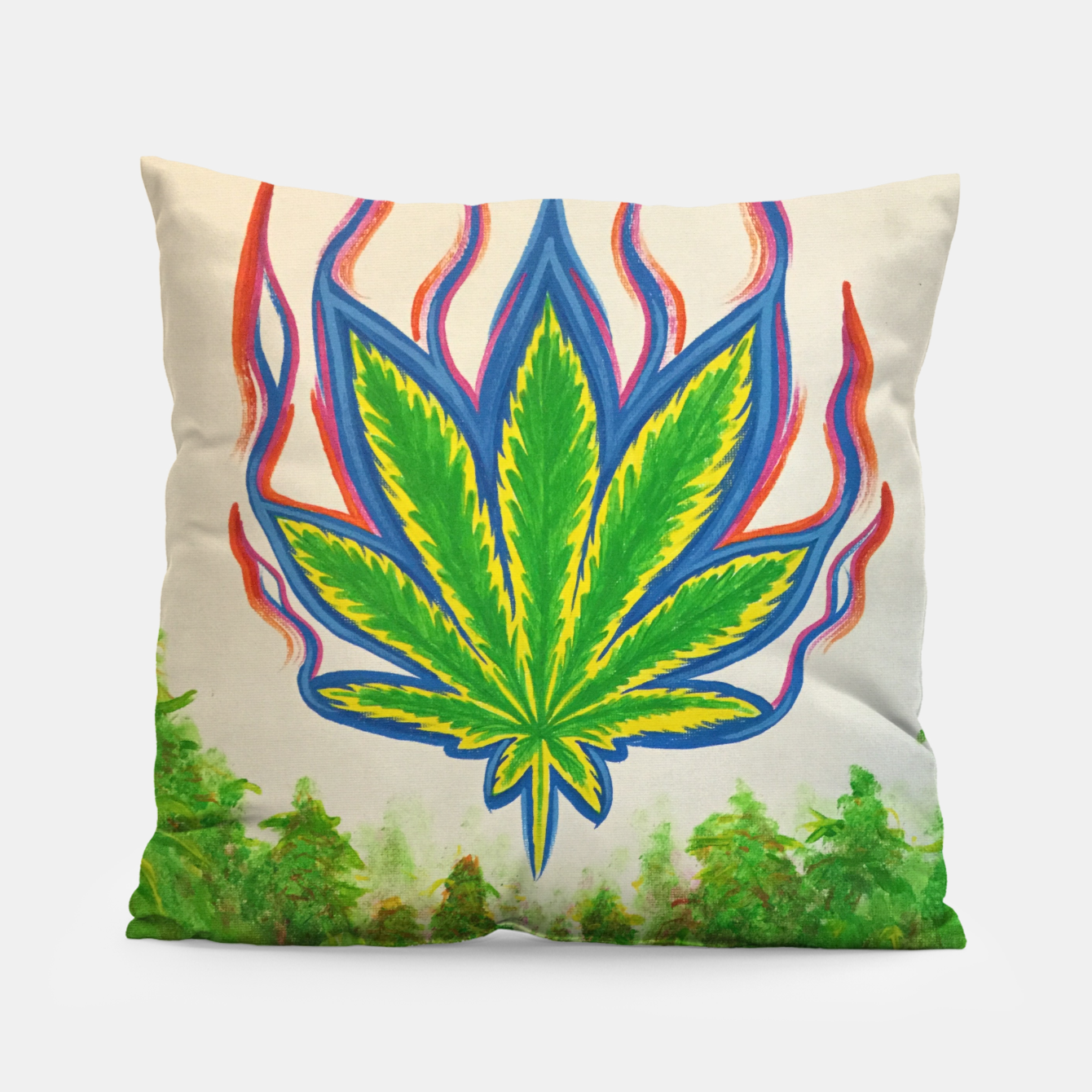 Image of Ganja Fields Pillow - Live Heroes