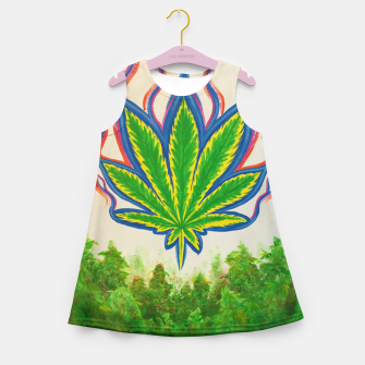 Miniature de image de Ganja Fields Girl's summer dress, Live Heroes