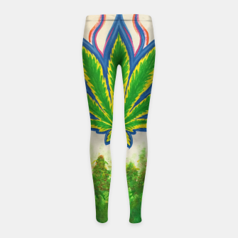 Thumbnail image of Ganja Fields Girl's leggings, Live Heroes