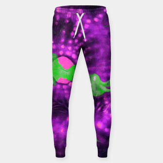 Purple striped green chalice Sweatpants miniature