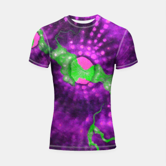 Thumbnail image of Purple striped green chalice Shortsleeve rashguard, Live Heroes