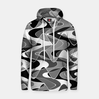 Black and white space waves distribution, cosmos abstraction, scientific design Hoodie miniature