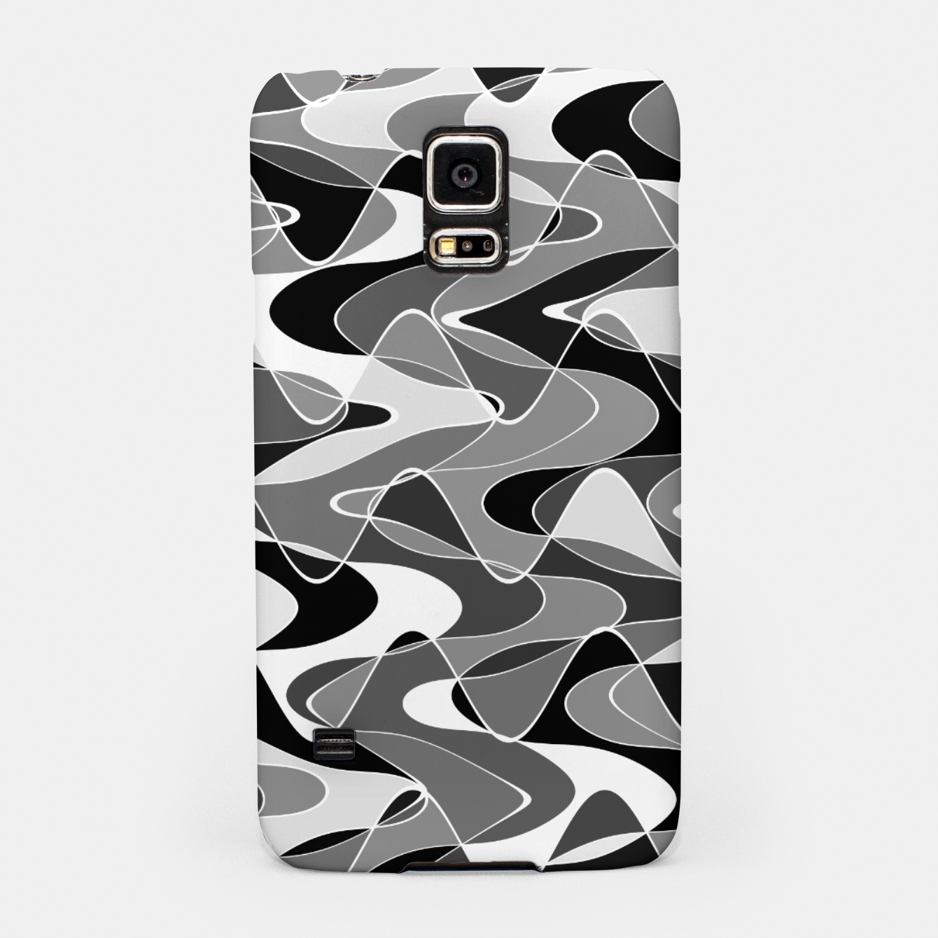 Image de Black and white space waves distribution, cosmos abstraction, scientific design Samsung Case - Live Heroes
