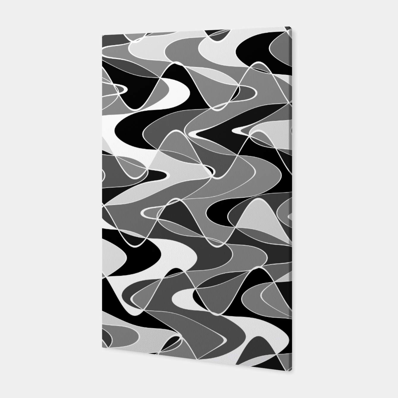 Image de Black and white space waves distribution, cosmos abstraction, scientific design Canvas - Live Heroes