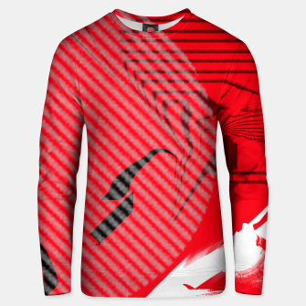 Thumbnail image of red abstract striped digital art Unisex sweater, Live Heroes