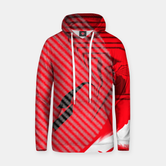 Thumbnail image of red abstract striped digital art Hoodie, Live Heroes